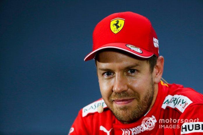 Sebastian Vettel, Ferrari, durante la conferencia de prensa