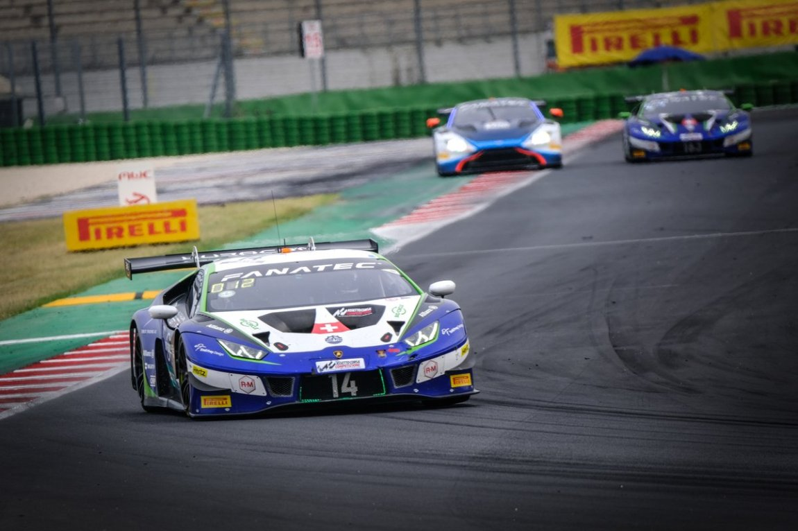 # 14 Emil Frey Racing Lamborghini Huracan GT3 Evo: Ricardo Feller, Alex Fontana