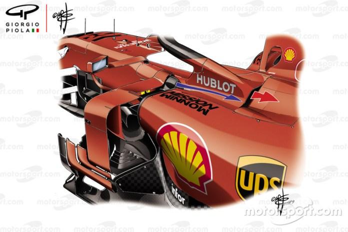 Detalle lateral del Ferrari SF90