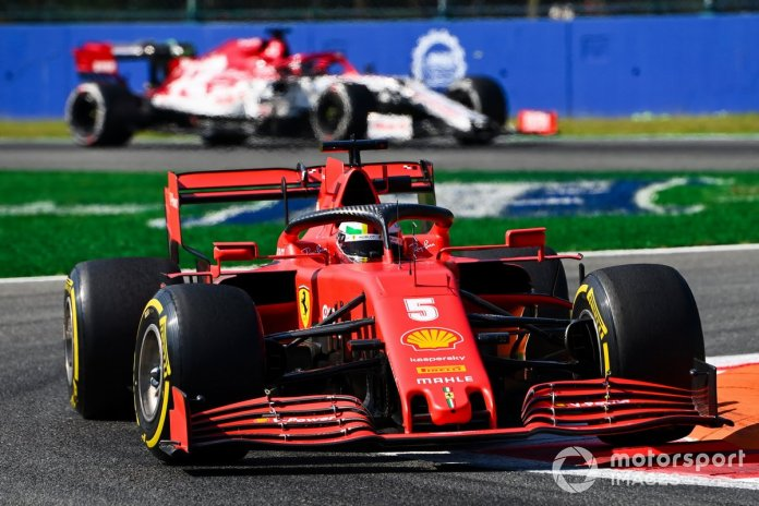 Sebastian Vettel, Ferrari SF1000, Kimi Raikkonen, Alfa Romeo Racing C39