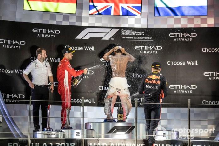 2018: 1.Lewis Hamilton, 2.Sebastian Vettel, 3.Max Verstappen