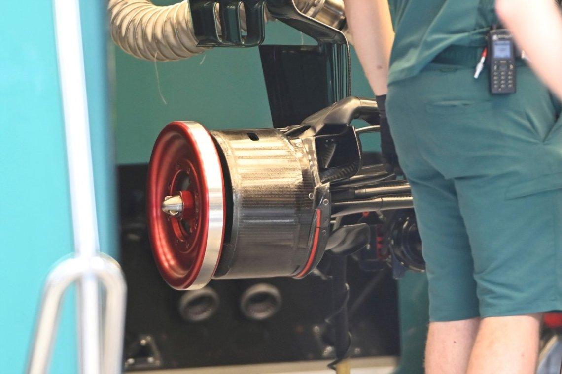 Aston Martin AMR21 brake drum detail