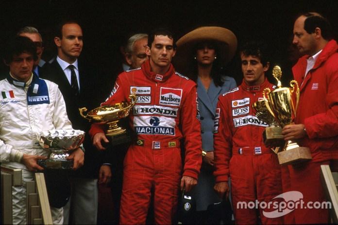 24. GP de Mónaco 1989: Ayrton Senna y Alain Prost (McLaren)