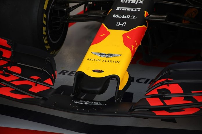 The front wing of the Red Bull Racing RB15