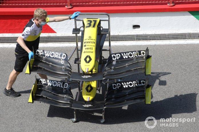 Detalle del alerón delantero del Renault R.S.20