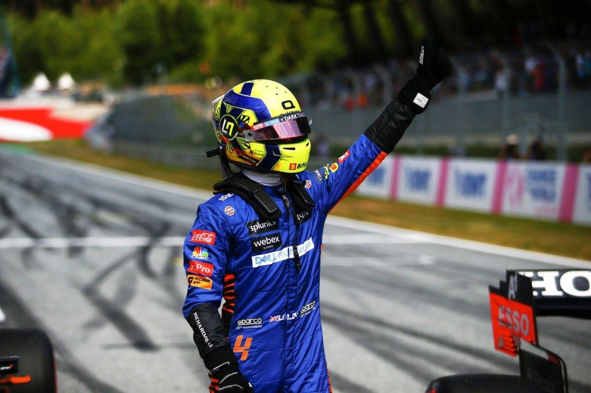 Lando Norris, McLaren, after qualifying