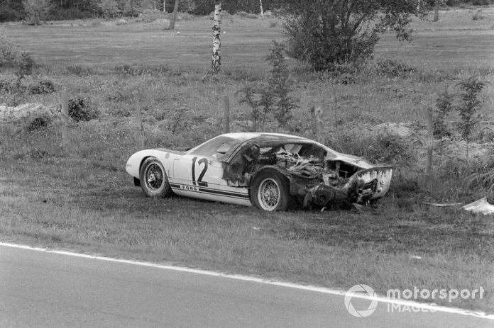 The remains of the Ford GT40 by Richard Attwood and Jo Schlesser