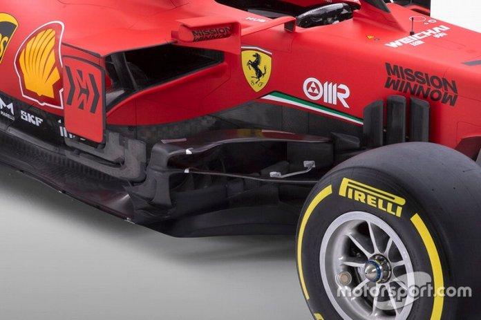 Ferrari SF1000 detalle de los sidepods