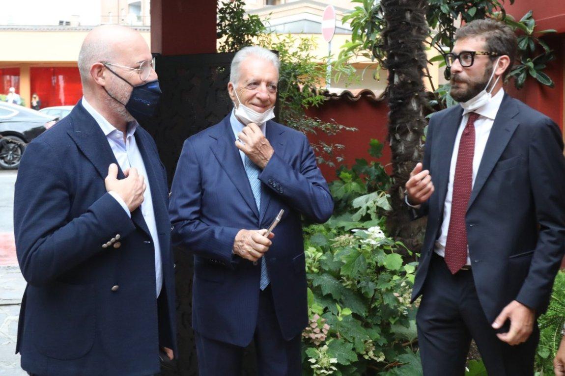 Stefano Bonaccini, Piero Ferrari, Enzo Mattioli Ferrari
