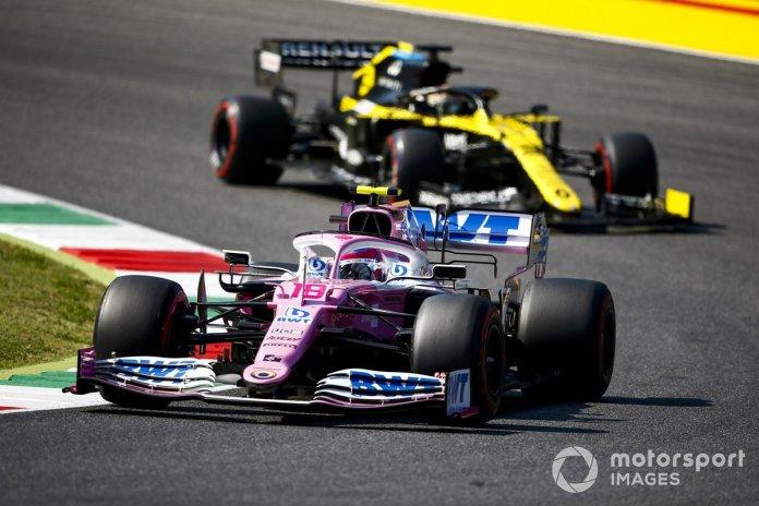 Lance Stroll, Racing Point RP20, Daniel Ricciardo, Renault F1 Team R.S.20