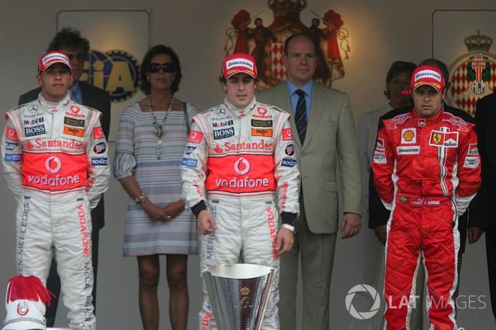 43- Fernando Alonso, 1º en el GP de Mónaco 2007