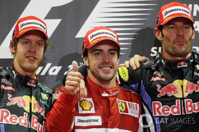 62- Fernando Alonso, 1º en el GP de Singapur 2010 con Ferrari
