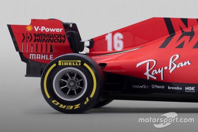 Detalles de la parte trasera del Ferrari SF1000