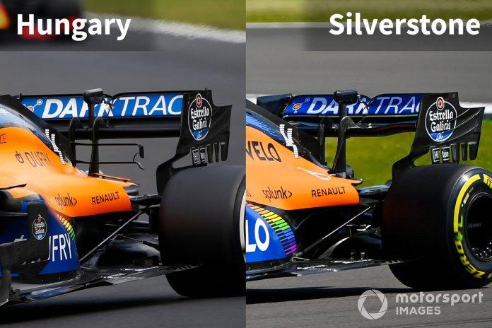 McLaren MCL35 comparación trasera