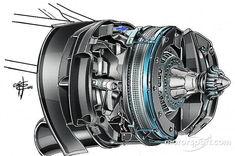 Esclusivo: ecco il segreto dell'impianto frenante della Mercedes W07 Hybrid!