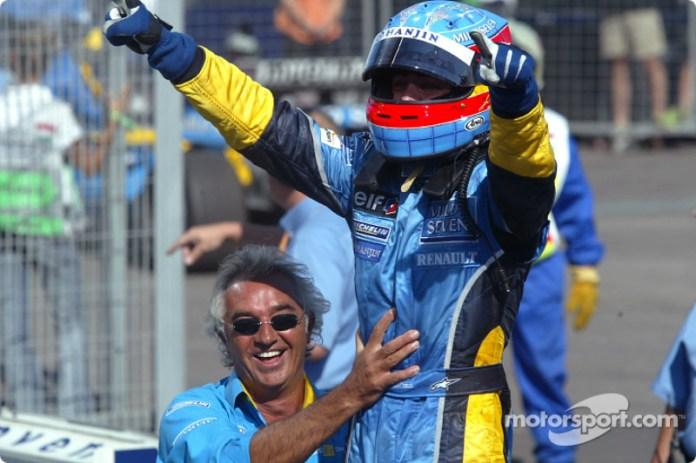 5- Fernando Alonso, 1º en el GP de Hungría 2003 con Renault