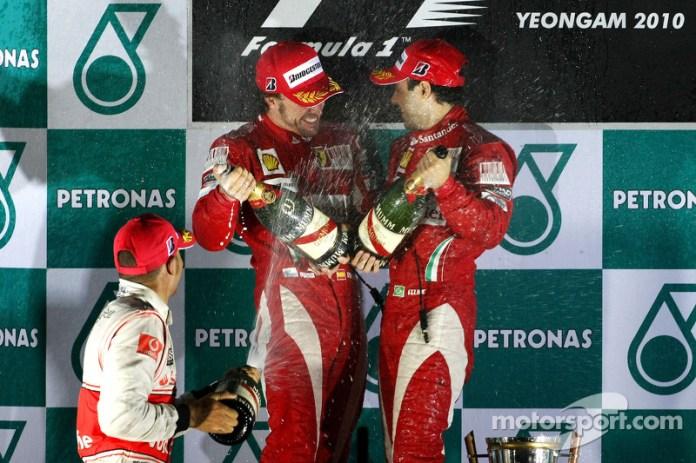 64- Fernando Alonso, 1º en el GP de Corea 2010 con Ferrari