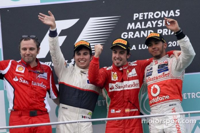 76- Fernando Alonso, 1º en el GP de Malasia 2012 con Ferrari