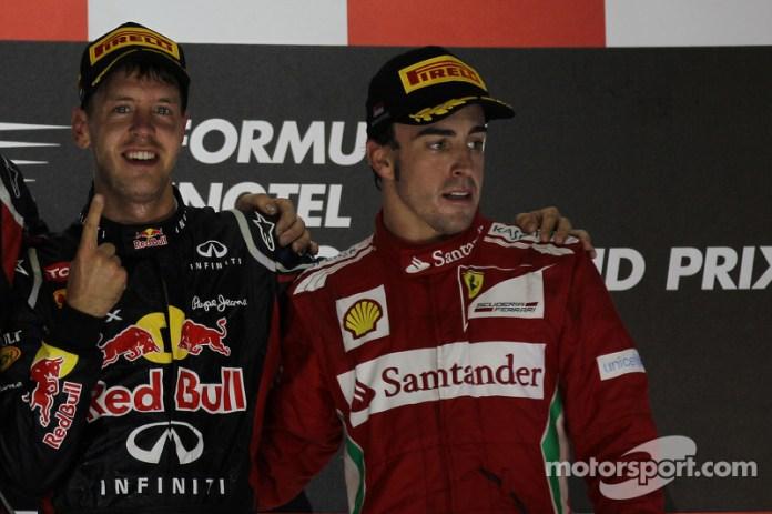83- Fernando Alonso, 3º en el GP de Singapur 2012 con Ferrari