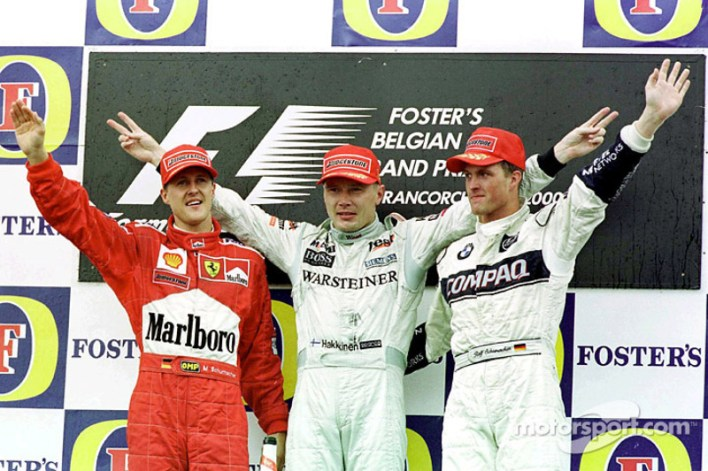 6. Hakkinen vs Schumacher (Belgium 2000)
