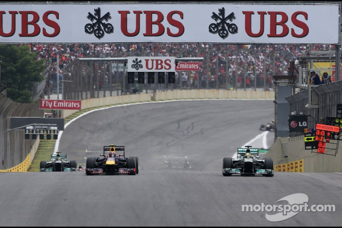 Mark Webber, Red Bull Racing y Nico Rosberg, Mercedes GP