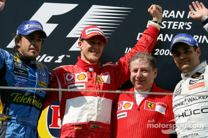 28- Fernando Alonso, 2º en el GP de San Marino 2006 con Renault