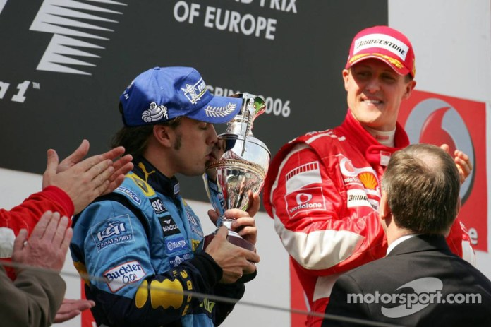 29- Fernando Alonso, 2º en el GP de Europa 2006 con Renault
