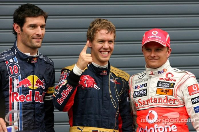 Un año después, el 13 de septiembre de 2008, en Monza, Vettel dio a Toro Rosso su única pole en Fórmula 1