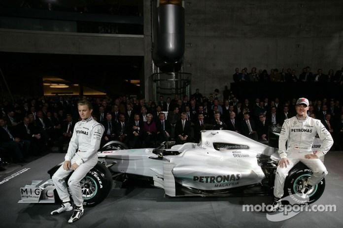 Nico Rosberg y Michael Schumacher