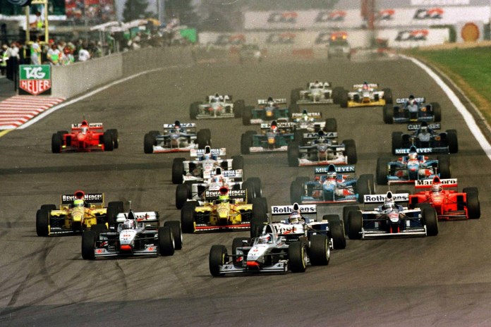 Hakkinen led 40 laps at the Nurburgring in 1997, but Mercedes engine failure denied him an odds-on victory