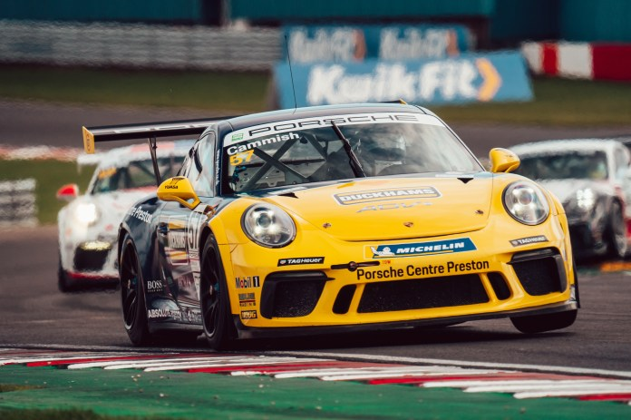 Cammish profited from Hanafin's track-limits infringement in Porsche Carrera Cup GB
