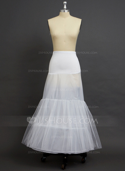 Women Tulle NettingPolyesterSpandex Floor Length 2 Tiers