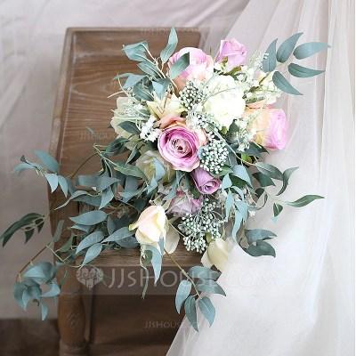Elegant Free-Form Satin Bridal Bouquets/Bridesmaid ...