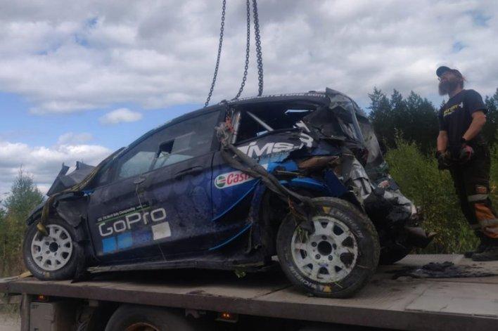 Crash of Hayden Paddon, M-Sport