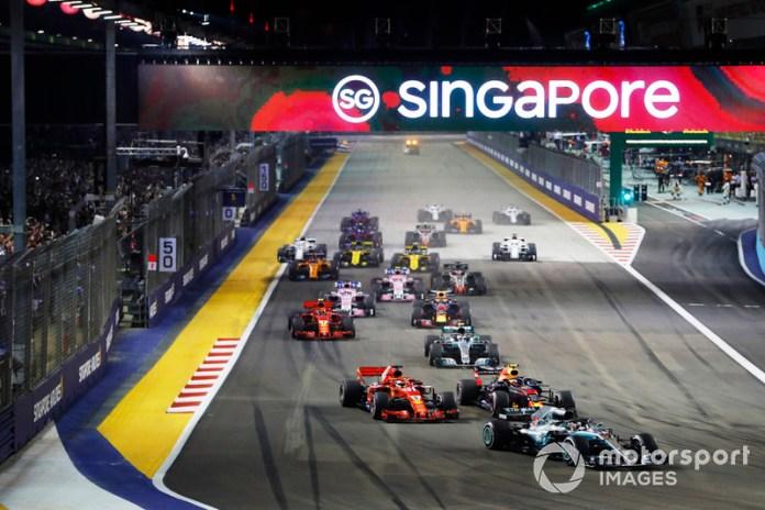Lewis Hamilton se impuso en 2018 desde la pole position en Marina Bay.