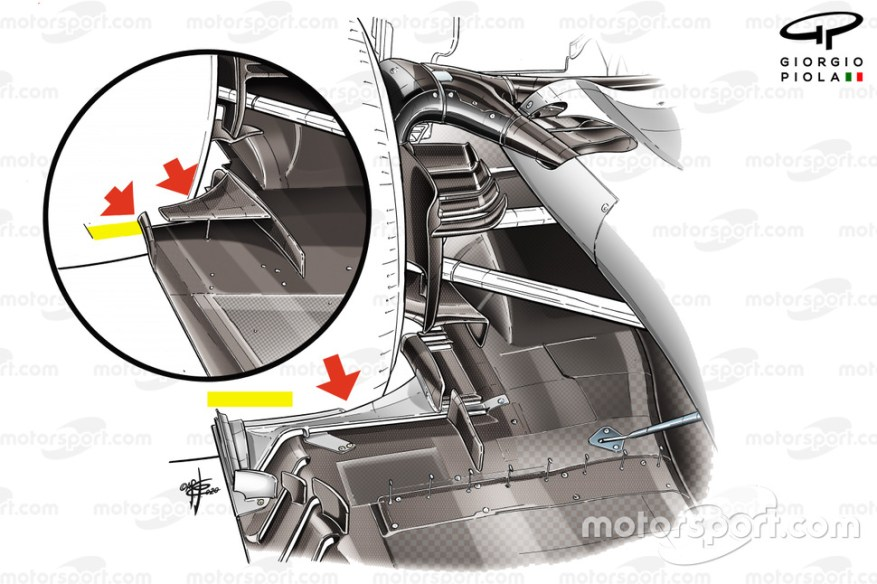 Haas F1 Team VF-20 floor comparison