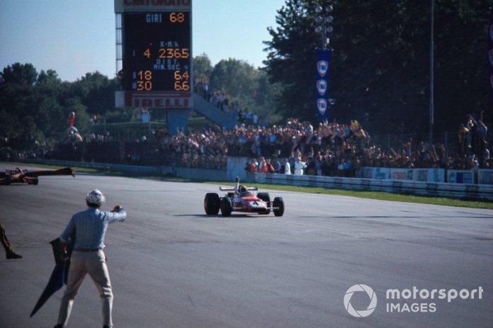 Clay Regazzoni, Ferrari 312B, victoria en el GP de Italia de 1970