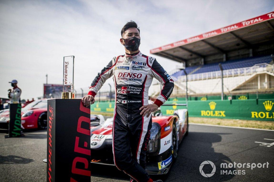 Polesitter # 7 Toyota Gazoo Racing Toyota TS050: Kamui Kobayashi