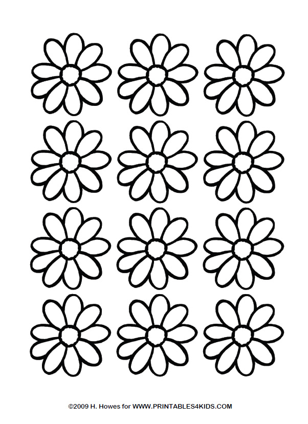 daisy coloring page printables for kids free word search puzzles