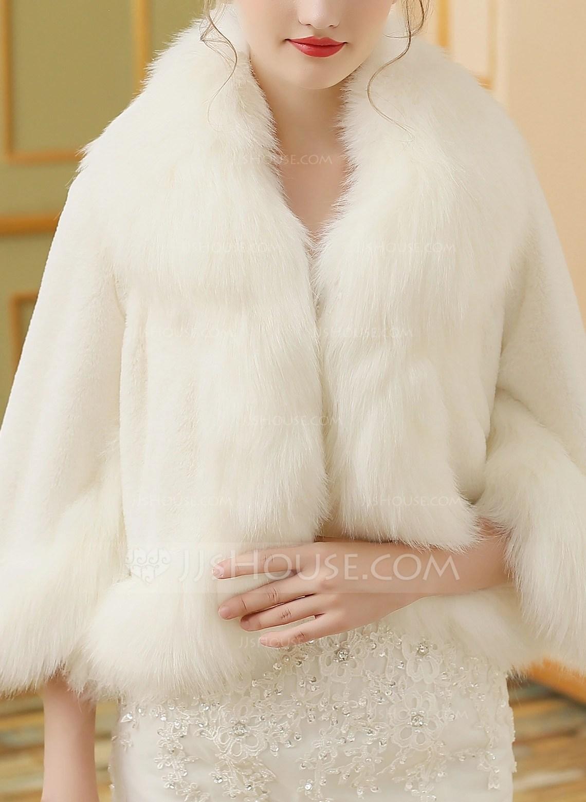 Faux Fur Wedding Wrap 013149950 Wraps JJsHouse