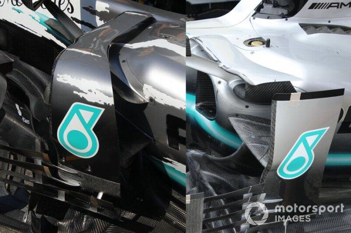 Mercedes F1 AMG W10 technical detail