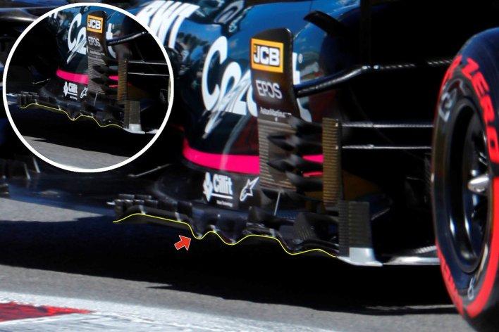 Aston Martin Racing AMR21 floor fins
