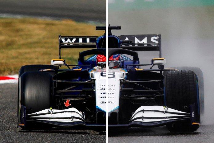 Williams FW43B comparison
