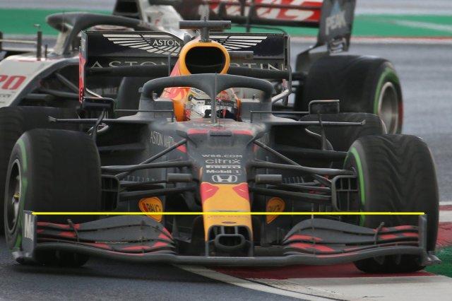 Plus de détails sur l'aileron avant du Red Bull