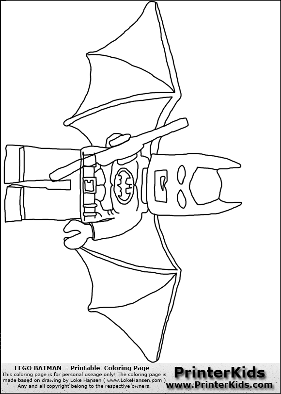 lego batman page colouring pages