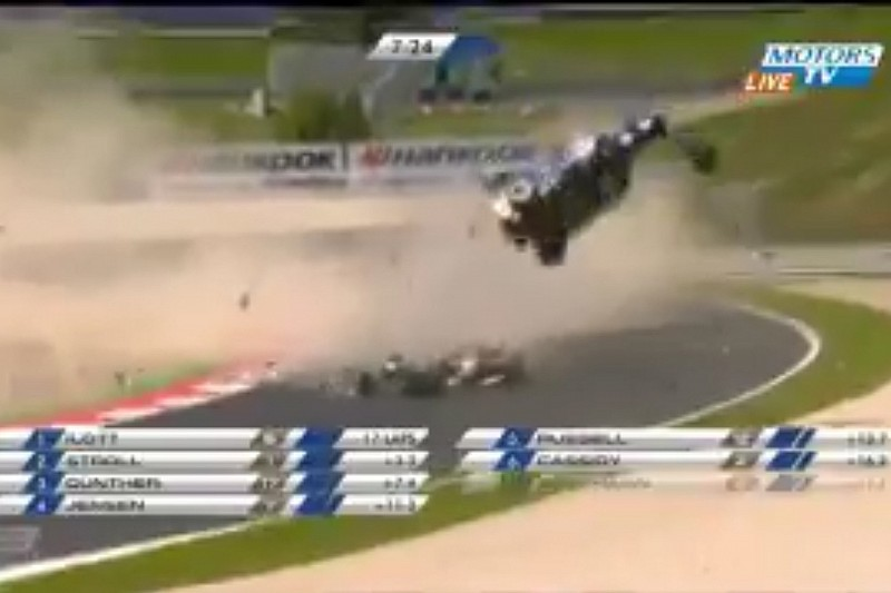 Pedro Piquet se envolve em acidente espetacular na F3 Euro