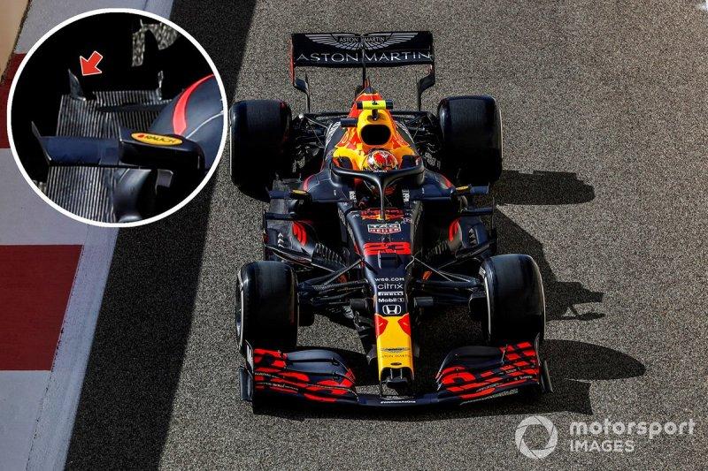 Red Bull Racing RB16 vloer detail