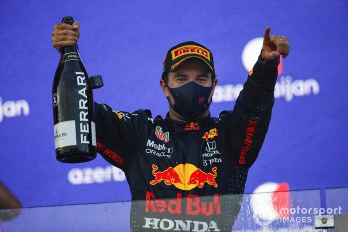 Sergio Perez took his first Red Bull win in Azerbaijan.