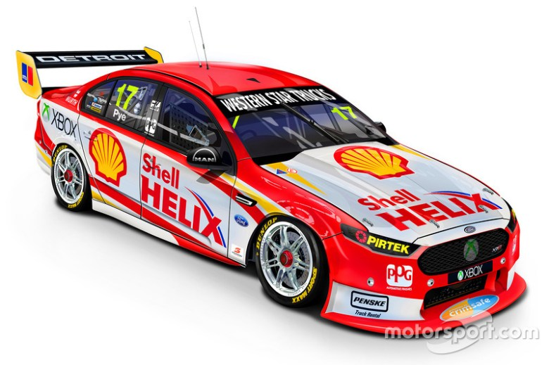Updated livery for the DJR Team Penske Ford of Scott Pye at Darwin