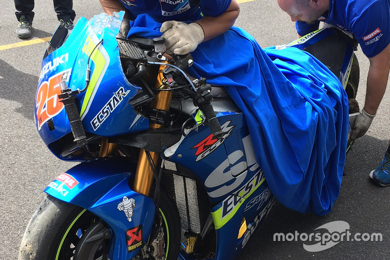 Incidente di Maverick Viñales, Team Suzuki MotoGP